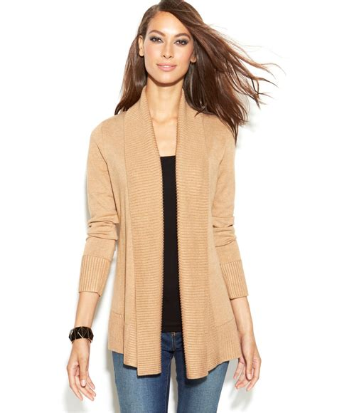 Inc International Concepts Ribbed Knit Open Front Cardigan