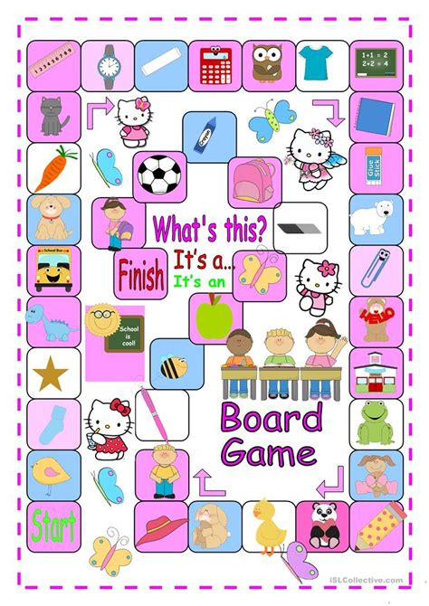 printable board games for young learners a and an boardgame for beginners worksheet free esl
