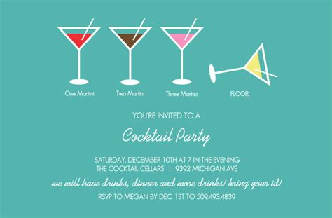 cocktail invitation bar invitations martini cocktail invitation