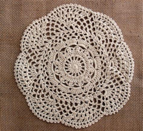 Handmade Lace Doilies - 8 quot crochet lace doilies placemats handmade cotton