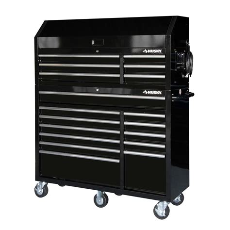 husky 52 in 18 drawer tool chest and cabinet set husky 52 in 18 drawer tool chest and rolling tool cabinet