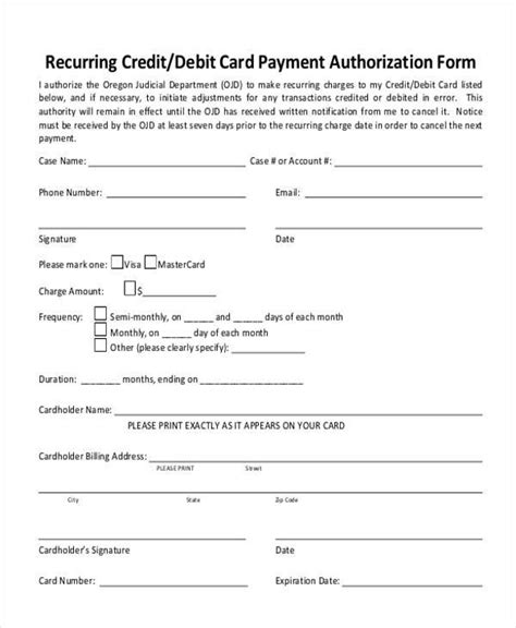 ach authorization form template professional template