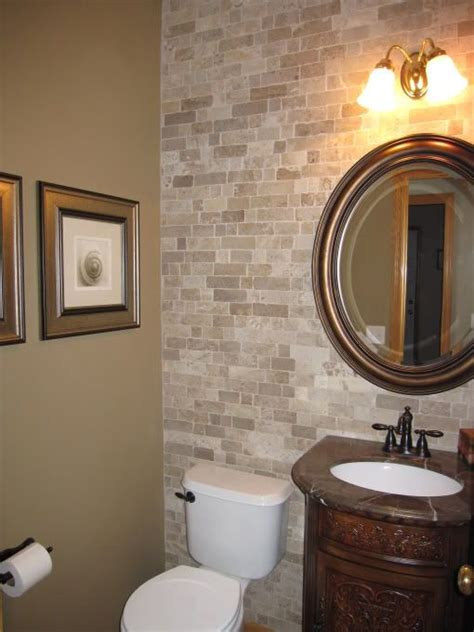 half bathroom designs brick tiles home interiors impress your visitors with these 14 cute half bathroom