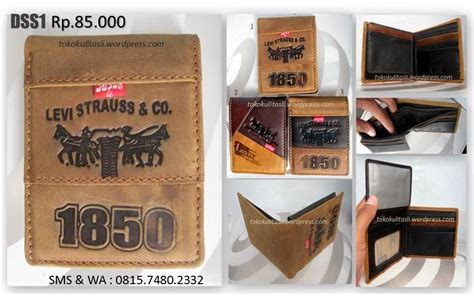Sandal Kulit Cowok Levis 1 dompet kulit dss1 levi s toko kulit asli