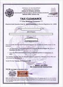 Clearance Certificate Cover Letter Bir Tax Clearance Corporation Requirements Onestepahead470