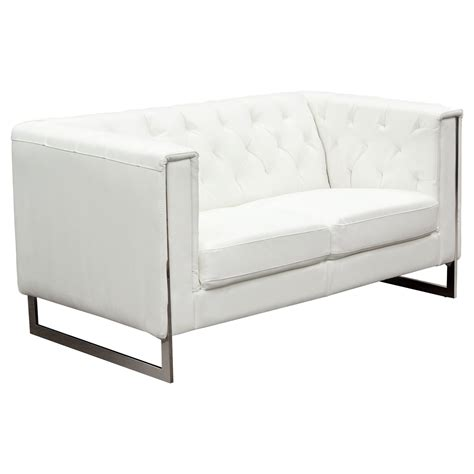 tufted sofa and loveseat set chelsea leatherette loveseat and sofa set tufted white