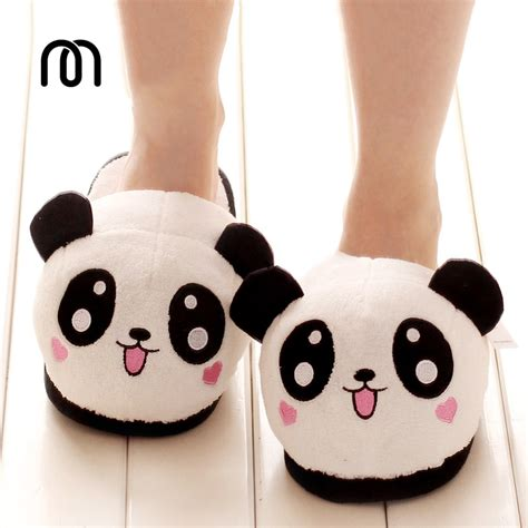 panda slippers aliexpress buy millffy plush panda animal slippers