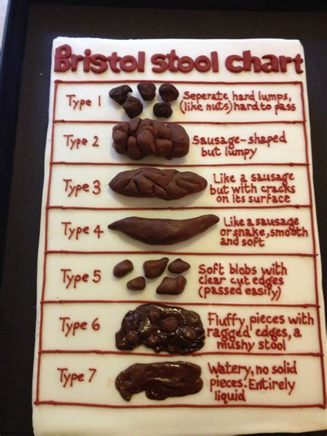 Bristol Stool Cake nurses cake bristol stool chart cake http www