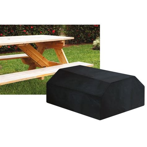 Picnic Table Covers by 6 Seater Picnic Table Cover Black