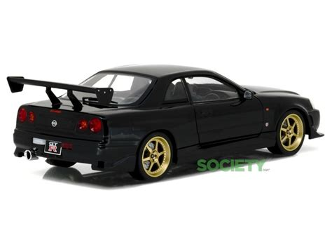 nissan r34 black greenlight collectibles 1999 nissan skyline gt r r34