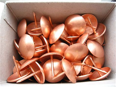 Copper Upholstery Nails by 50 Large Copper Upholstery Nails 19mm Diameter