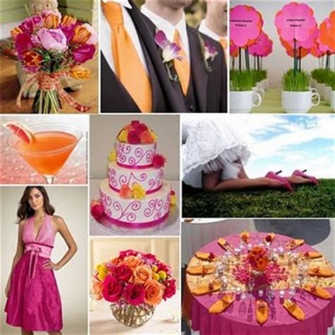 orange tangerine and fuschia wedding ideas weddingbee
