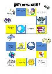 printable board game weather english teaching worksheets board games