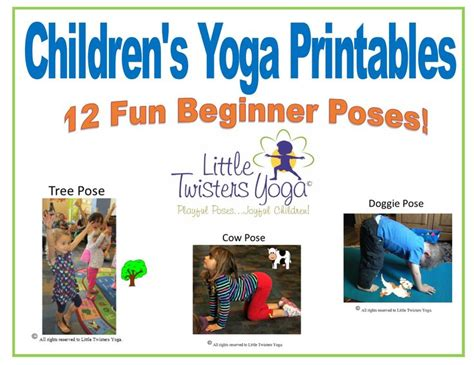 printable yoga cards 17 best images about kids yoga at home exercises on