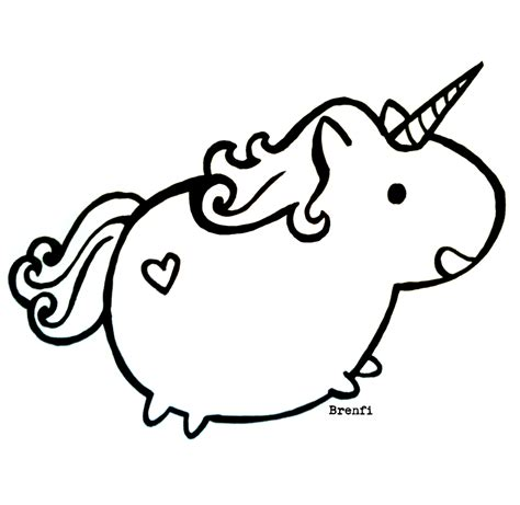 chubby unicorn by brenfi on deviantart