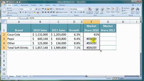how to calculate market in excel