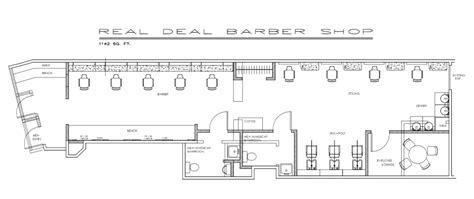 barbershop floor plan layout shop plans real deal barber floor plan building plans