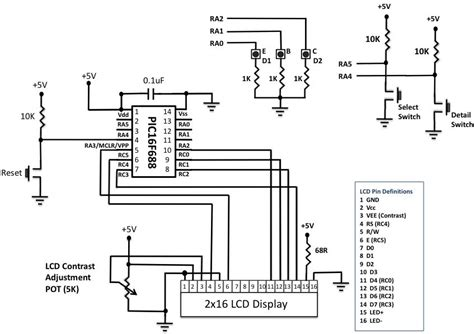 diode tester circuit diagram microcontroller based diode and bipolar junction transistor bjt tester embedded lab