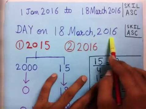 Find To Date Calendar Problems Aptitude How To Find Day On Any Given Date