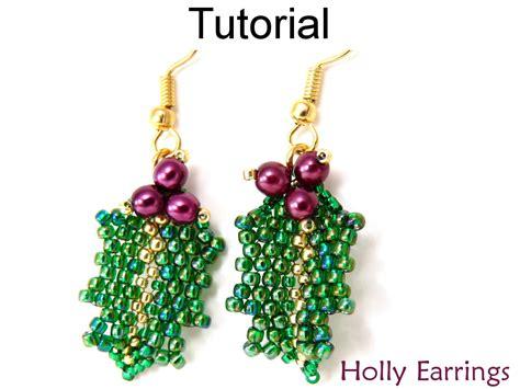 pattern for beaded christmas earrings beading tutorial pattern earrings christmas holiday