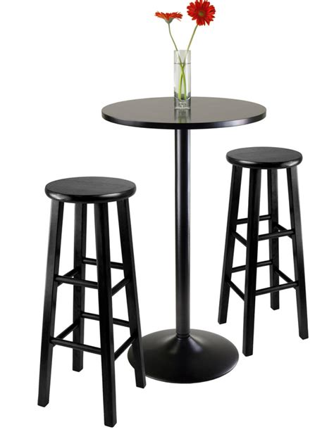 bar table set 6 contemporary black pub table sets furniture