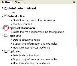 Topic Presentation Outline by Powerpoint Tutorials Your Presentation