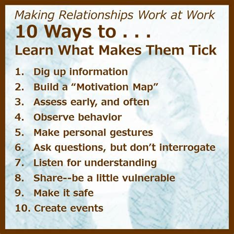 10 Ways To Learn What Makes People Tick At Work Small