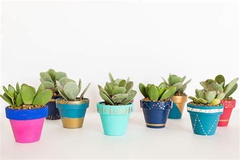modern mini painted plant pots diy mini painted pots lauren conrad
