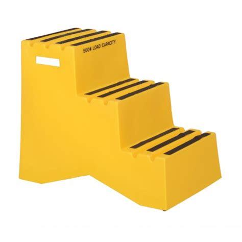 Polyethylene Step Stool 3 Steps by Vestil Polyethylene Step Stools