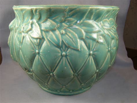 Mccoy Jardiniere Planter by Large Nelson Mccoy Pottery Jardiniere Planter