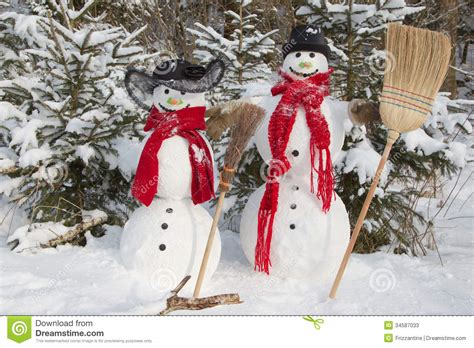 snowman couple  winter christmas outdoor decoration