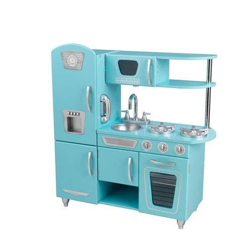 Kidkraft Kitchen Blue by Kidkraft Blue Vintage Kitchen Play Set 53227 The Home Depot