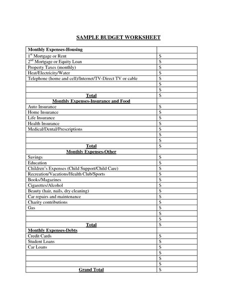 Sheets Budget Template