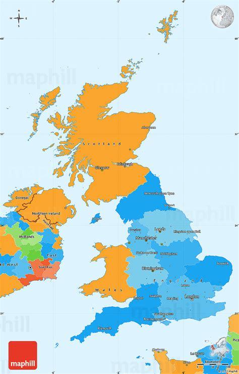 united kingdom political map political simple map of united kingdom