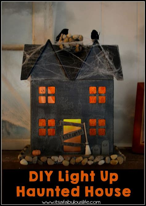 house crafts for diy light up haunted house easy and craft