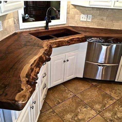 tree trunk bar top wood countertop becraft plus inc