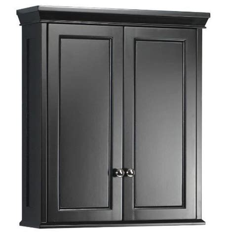Black Bathroom Storage Cabinet Bathroom Wall Storage Cabinet Hanging Medicine Shelf Bath Kitchen Black Wood Ebay