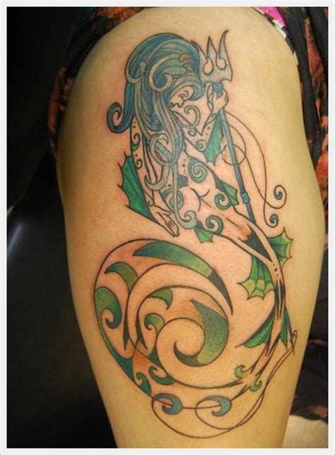 mermaid tribal tattoo 50 amazing mermaid designs amazing ideas