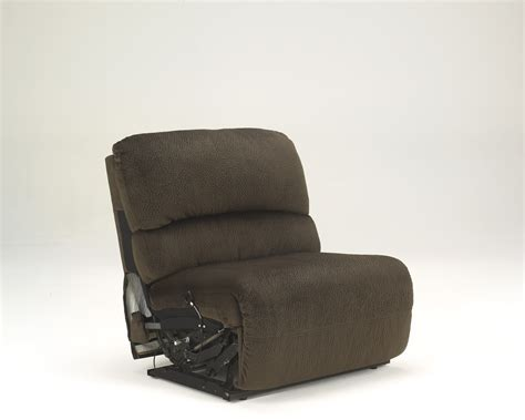armless recliner buy toletta chocolate zero wall armless recliner by