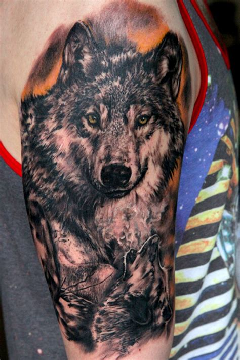wolf sleeve tattoo designs half sleeve wolf ideas center