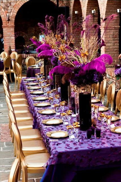 Purple & Gold Wedding Decor 2   Decorating, Centerpieces
