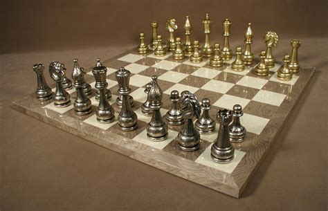 metal chess set metal chess sets brass pewter chess sets