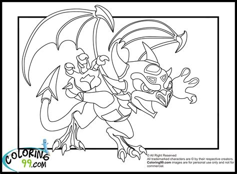 skylanders dragons coloring pages skylanders dragons coloring pages team colors