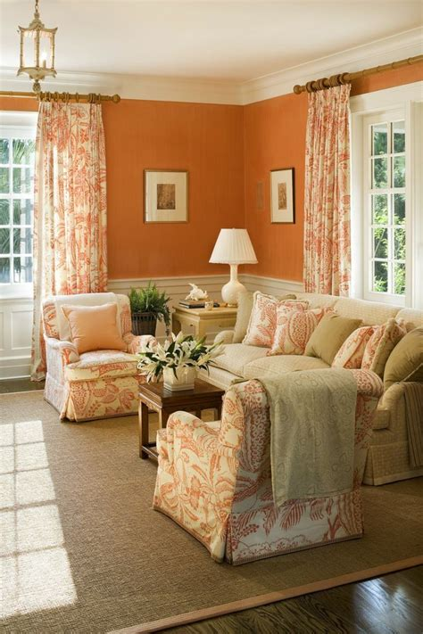 Beige And Orange Living Room by Colour On Sitting Room Wall Furnitureteams