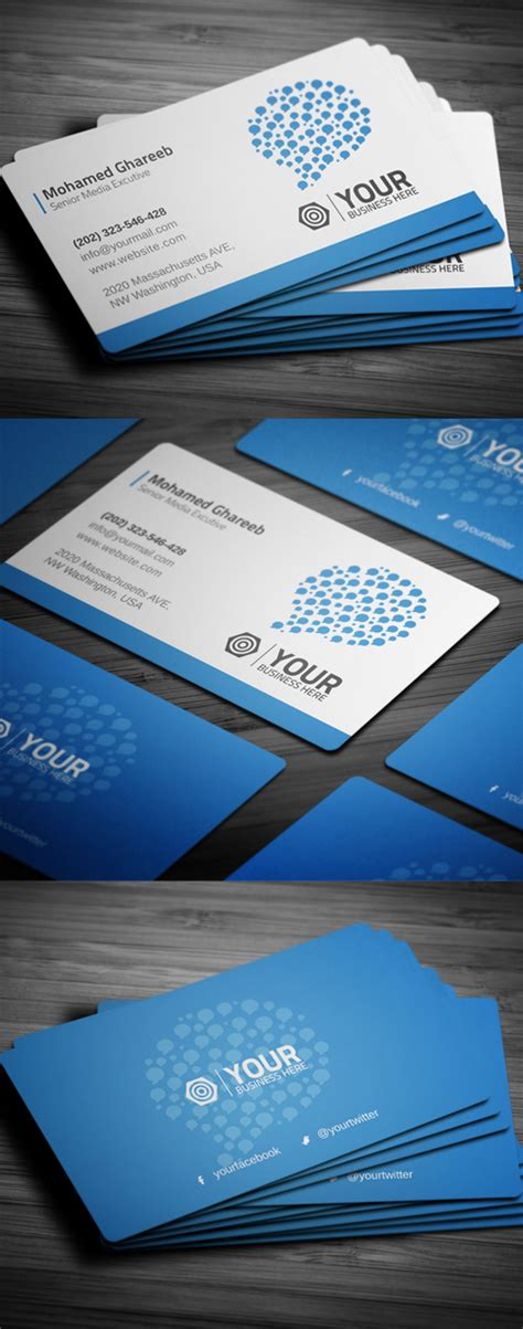 Social Media Business Card Psd Template by Creative Business Cards Psd Templates Design Graphic