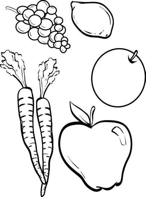 coloring page vegetables and fruit fruits and vegetables coloring page sunday school clip