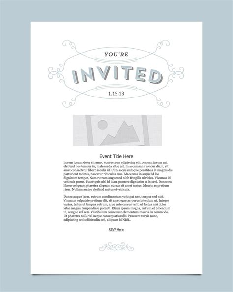 Invitation Email Template Choice Image Invitation Sle And Invitation Design Email Card Template