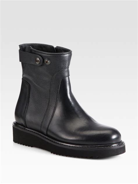over ankle boots motorcycle lyst vince collette leather motorcycle ankle boots in black