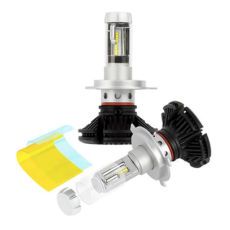 Led H4 led headlight kit h4 led fanless headlight conversion kit with adjustable color temperature