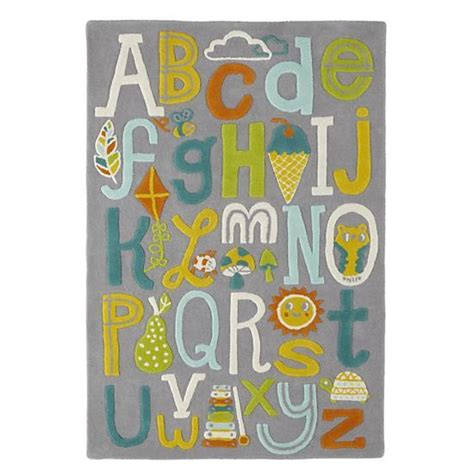 Land Of Nod Alphabet Rug by Allison Cole Alphabet Wool Rug In New Rugs The Land Of Nod